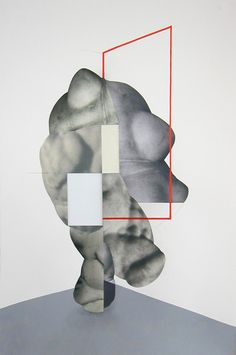 It's Nice That : Leigh Wells' wonderfully abstract collages mix geometric lines with human body parts