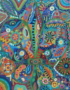 Fleur de lis Painting  - Fleur de lis Fine Art Print
