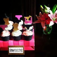 Bachelorette party lingerie shower cupcakes