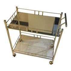 Image of Vintage Brass Bar Cart