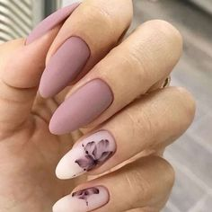 36 Perfect and Outstanding Nail Designs for Winter dark color nails; nude and sparkle nails; The post 36 Perfect and Outstanding Nail Designs for Winter dark color nails; Gel n& appeared first on Nails. Mauve Nails, Gray Nails, Gray Nail Art, Violet Nails, Neutral Nails, Dark Color Nails, Nail Colors, Matte Gel Nails, Dark Pink Nails