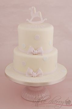 Rocking Horse Christening Cake - by littlecherry @ CakesDecor.com - cake decorating website