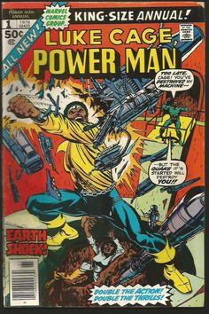 POWER MAN (Luke Cage) ANNUAL #1  Marvel Comics 1976 Punisher Cameo