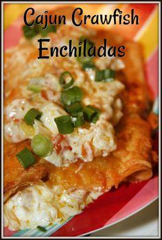 Crawfish Recipes, Cajun Recipes, Seafood Recipes, Mexican Food Recipes, Dinner Recipes, Cooking Recipes, Haitian Recipes, Crawfish Enchiladas Recipe, Donut Recipes