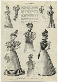 The new walking costumes, 1897