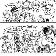 Media Tweets by 부자가 되고싶다(미카시키) (@simika25) | Twitter Cute Couple Comics, Couples Comics, Angel Of Death, Ib And Garry, Shingeki No Bahamut, Banana Bus Squad, Satsuriku No Tenshi, Rpg Horror Games, Rpg Maker