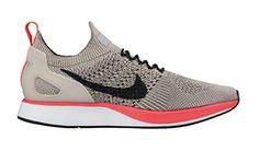 Nike Women Air Zoom Mariah Flyknit Racer string black-white-solar red Size  6.0