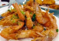 Deep Fried Prawns with Salt and Pepper