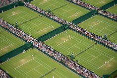 Aerial view of the Grounds at Wimbledon during The Championships - Bob Martin/AELTC