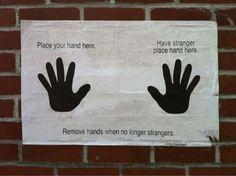 No longer strangers.