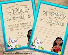 Moana (Inspired) Party Invite