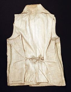 Waistcoat (back) Date  1774–92 Culture  French Medium  silk Dimensions a988bca1633f6
