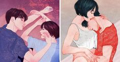 Korean Illustrator Captures Love And Intimacy So Well That You Can Almost Feel It | Bored Panda