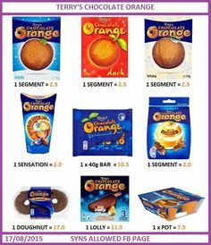 Chocolate orange astuce recette minceur girl world world recipes world snacks Asda Slimming World, Slimming World Syns List, Slimming World Sweets, Slimming World Syn Values, Slimming World Recipes Syn Free, Slimming World Plan, Low Syn Treats, Terry's Chocolate Orange, Chocolate Syns