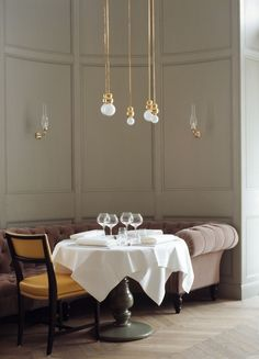 grey pink gold white  Grand Hotel Stockholm