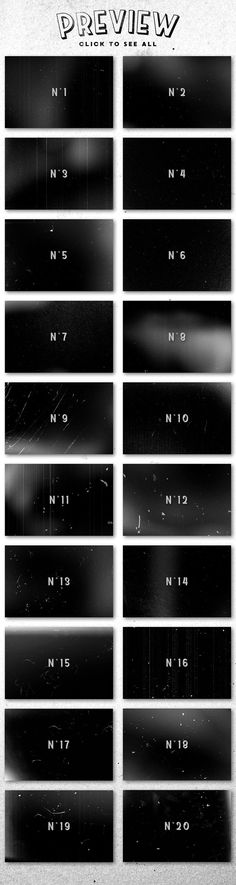 Film Dust grunge textures -  A set of 20 handmade Film Dust textures in JPG format. These textures feature dust, speckles, grain,... They are great for adding a retro touch to your pictures or designs (either as layer masks or by using blending modes). They can also be used as backgrounds for lettering work, drawings, typography, etc. By MiksKS $9 #affiliatelink