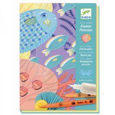 Djeco Kreativset Pinsel Filzstifte Unter Wasser Fische - auf Rechnung bestellen, Bonuspunkte sammeln, DHL Blitzlieferung!