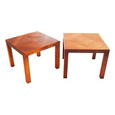 Image of Mid-Century Parson Side Tables - a Pair