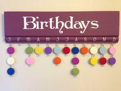 Purple birthday board