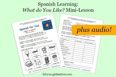 Get our newest SPANISH FREE MINI LESSON at Mommy Maestra, a resource website we sponsor. Enjoy!  http://www.mommymaestra.com