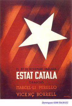 Spain - 1936-39. - GC - poster - Jose Dominguez Bermejo Civil War Art, Political Posters, Image Cat, Party Poster, Vintage Posters, Spanish, Barcelona, Advertising, Communism