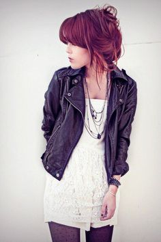rocker chic...I'll be wearing this all autumn...