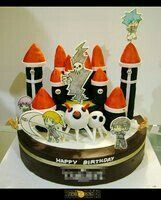 DWMA, Death Weapon Meister Academy, Lord Death, Maka, Crona, Death the Kid, Black Star, Soul Eater, cake; Anime Food