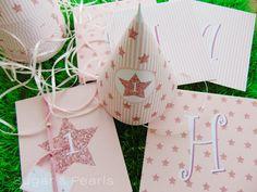 Twinkle twinkle little star-τα γενέθλια της Ιόλης ~ Sugar & Pearls Twinkle Twinkle Little Star, Advent Calendar, Sugar, Pearls, Holiday Decor, Beads, Pearl, Pearl Beads, Gemstones