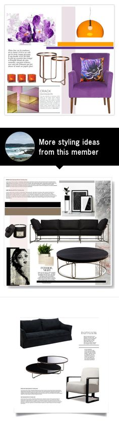 """Untitled #625"" by lulubelle1972 on Polyvore featuring interior, interiors, interior design, ev, home decor, interior decorating, Kartell, Dot & Bo, Pillow Decor ve Glas Italia"