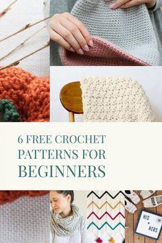 Free Crochet Patterns for Beginners #crochet #diy #craft #yarn #beginner #easy #homedecorideas