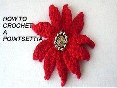 yt crochet poinsettia, christmas flower