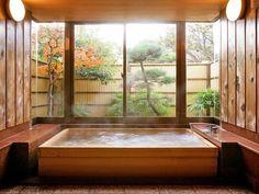 35 Elegant Japanese Bathroom Style For Natural Bathroom Inspirations - DEXORATE bathroom Japanese Style Bathroom, Japanese Style House, Japanese Interior Design, Japanese Bath House, Japanese Bathtub, Bad Inspiration, Bathroom Inspiration, Bathroom Ideas, Bathroom Remodeling