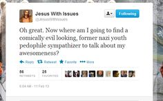 Jesus With Issues is really upset about the pope's resignation - Imgur