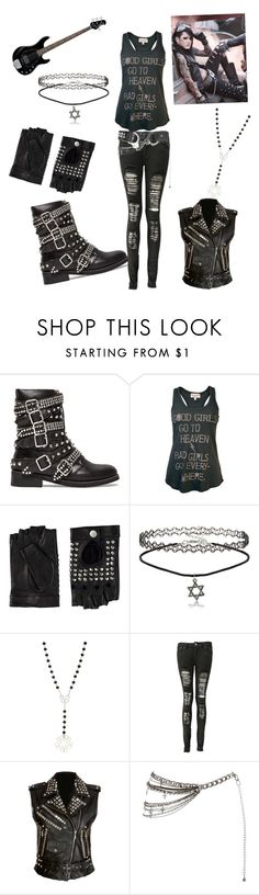 """""""Female Ashley Purdy"""" by horror-hottie ❤ liked on Polyvore featuring Jeffrey Campbell, Junk Food Clothing, Friis & Company, Boohoo and Kill Star"""