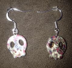 Turquoise Skull Earrings - Various Colors Cinco de Mayo Day of the Dead