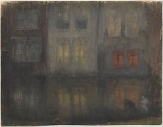 artemisdreaming:Nocturne: Black and Red—Back Canal, Holland, 1883-84 James Abbott McNeill Whistler See archive for more:  HERE