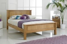 Capri Solid Oak Bed Frame 5ft - King Size | The Oak Bed Store