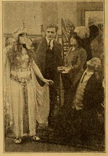 Still from the 1911 silent film The Mummy.  The film is lost.