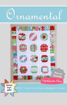 Ornamental Downloadable PDF Quilt Pattern Blossom Heart Quilts - Fat Quarter Shop