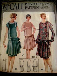 Vintage 1920s McCalls Flapper Dress Pattern 5179 | eBay