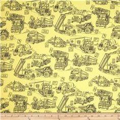 """110"""" Широкий Одеяло Обратно Mighty Movers Желтый"""