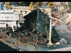 Um El Faroud after the accident in Malta dry docks which cost the lives of 9 dock workers.