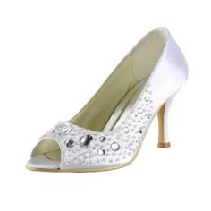 There is also blue Amazon.com: Remedios Boutique Rhinestones Peep Toes Satin Wedding Pumps: Shoes