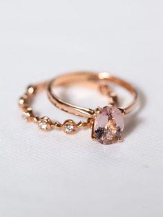 GENEVIÈVE RING & FLEUR RING | Davie & Chiyo | Engagement Rings & Wedding Bands