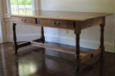 Shaker Harvest Table, Solid Cherry Entertainment Cabinet, Bathroom Cabinet, Maple Desk, Curly Maple Bed with Finial Posts