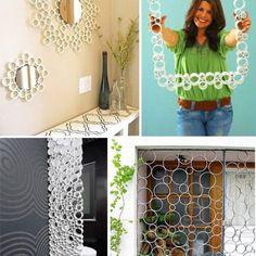 PVC-cső újrahasznosítása Pvc Pipe Crafts, Pvc Pipe Projects, Cardboard Crafts, Paper Crafts, Diy Crafts For Home Decor, Diy Crafts Hacks, Diy Arts And Crafts, Diy Crafts To Sell, Diy Para A Casa
