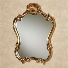 Adeen Gold Scrolling Acanthus Leaf Wall Mirror