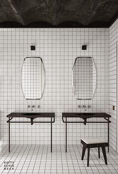Black and white #bathroom #design