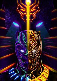 Black Panther & Golden Jaguar, T& - Black Panther Marvel, Black Panther Images, Black Panther Art, Deadpool Wallpaper, Avengers Wallpaper, Marvel Art, Marvel Heroes, Black Panther Hd Wallpaper, Marvel Background