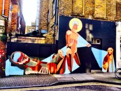 Wandering near Redchurch Street? Check out the great graffiti - this is Hanbury Street